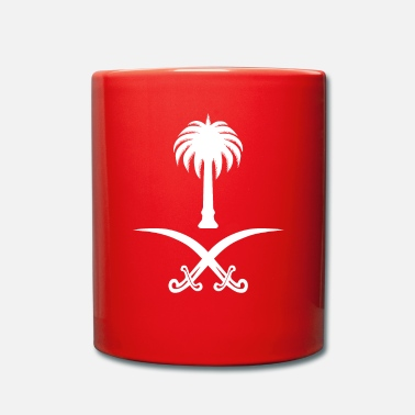 Arabia Proud Saudi - Saudi Arabia Flag - Arabic Calligrap - Full Colour Mug