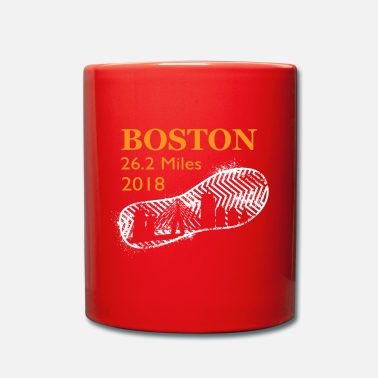 Boston Marathon Boston Running 2018 26 Miles Marathon running - Full Colour Mug