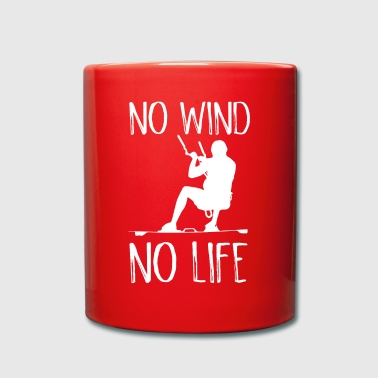 Kiteboard No Wind No Life Kite Kiteboarder Kiteboarder - Full Colour Mug