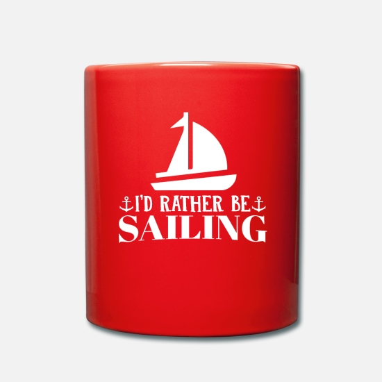 Waves Mugs & Drinkware - sailing - Mug red