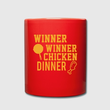 Perfektes Dinner Winner Winner Chicken Dinner - Tasse einfarbig