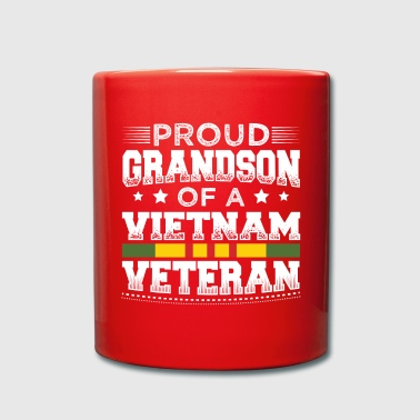 Grandson proud grandson of a vietnam veteran - grandson - Full Colour Mug