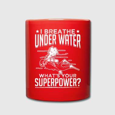 Under Water breathe under water - Full Colour Mug