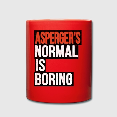 Aspergers Normal to Boring Autism Gift - Kubek jednokolorowy