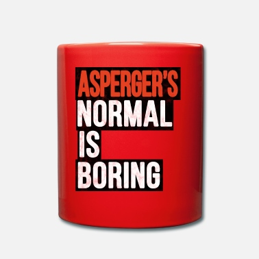 Autist Asperger's Normal is Saaie Autisme-cadeau - Mok uni