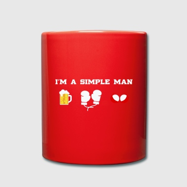 Beer Boxing Boobs - I'm a simple man - Full Colour Mug