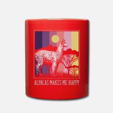 Alpaka Alpacas makes me happy - Tasse einfarbig