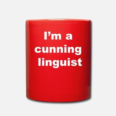 Linguistics Funny Cunning Linguist Gift for Teachers, Linguists, Language - Full Colour Mug