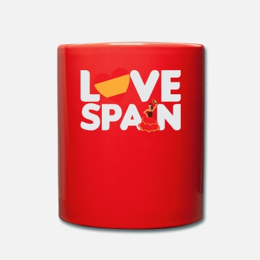 Tourist Love Spain Spanish Tourist Vacation Gift - Mok uni