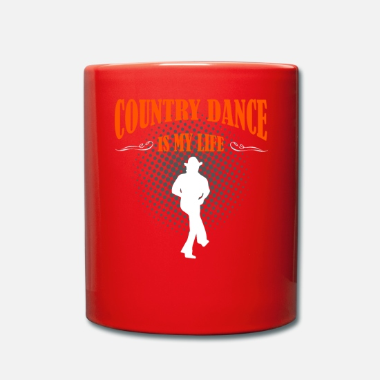 Hobbykoch Tassen & Becher - Country Dance Is My Life - Tasse Rot
