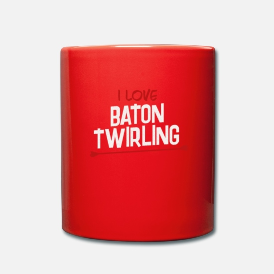 Trendy Mugs & Drinkware - Funny I Can Explain This With Baton Twirling - Mug red