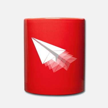 Paper Paper plane paper airplane - Full Colour Mug