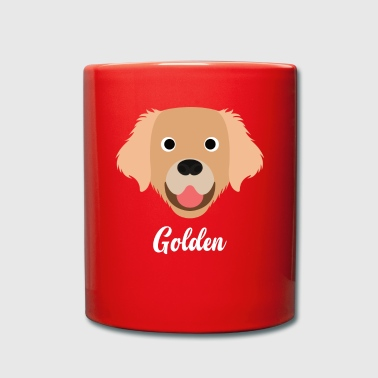 Gold Golden - Golden Retriever - Ensfarget kopp