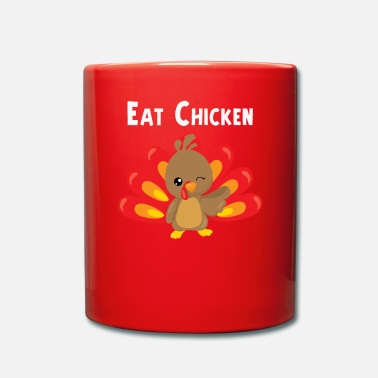 Cena Eat Chicken Cute Thanksgiving Turkey Design - Taza de un color
