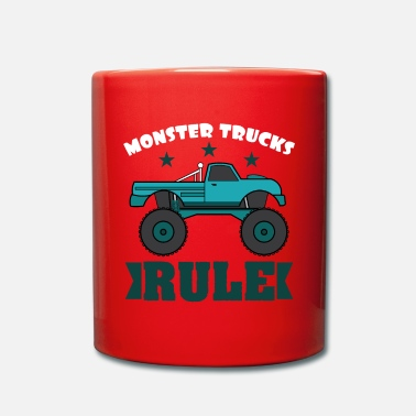 Luxury Monster Trucks Rule luxurious and glorious - Full Colour Mug