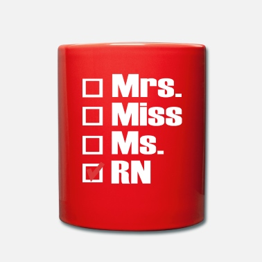 Infirmiere Mme Mlle. Mme RN Check - Mug uni