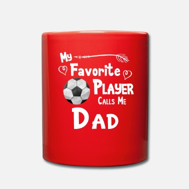 Clock Soccer Football My Favorite Player Calls Me Dad - Full Colour Mug