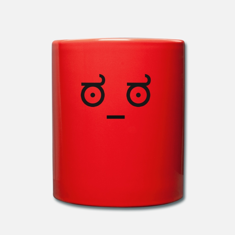 Ascii Mugs et récipients - Emoticon Ascii worry - Mug rouge