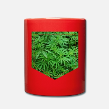 Cannabis Cannabis di cannabis al petto - Tazza monocolore