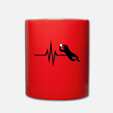 Gardien De But Mon cœur bat pour le football - Gardien de but Gardien de but - Mug uni