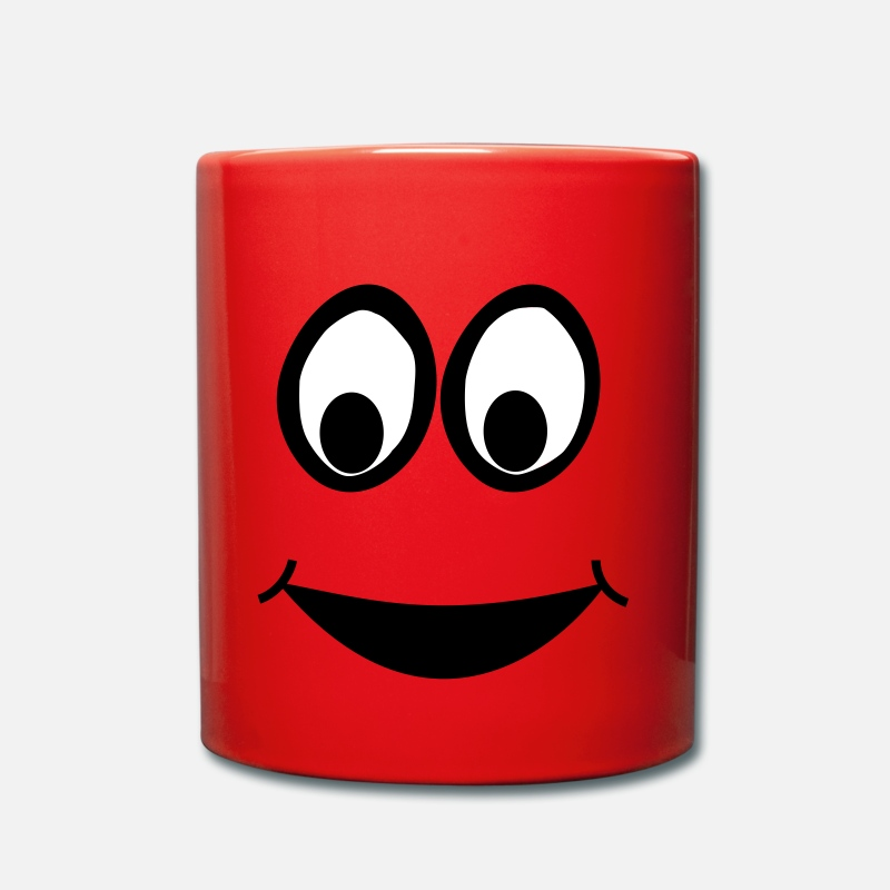 Comic Tazas y accesorios - Funny Face, Cartoon Face, Trickfilm, Smiley - Taza rojo
