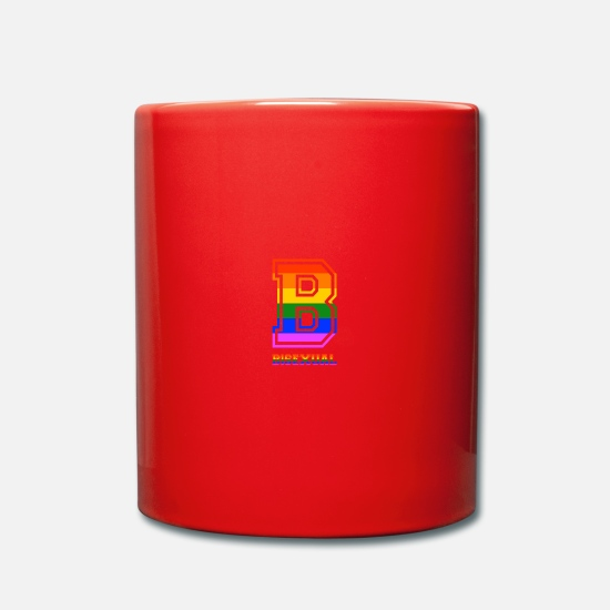 Gay Pride Mugs & Drinkware - Bisexual LGBT Gay Pride Coming Out Rainbow - Mug red