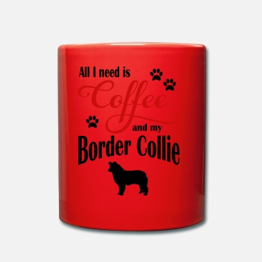 Border Collie Border Collie Café - Taza de un color