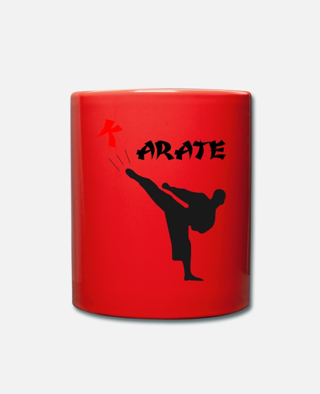 Martial Arts Mugs & Drinkware - karate - Mug red