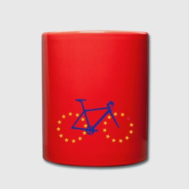 Bicycle with European tires - Full Colour Mug