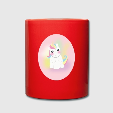 Sit Sitting unicorn - Full Colour Mug