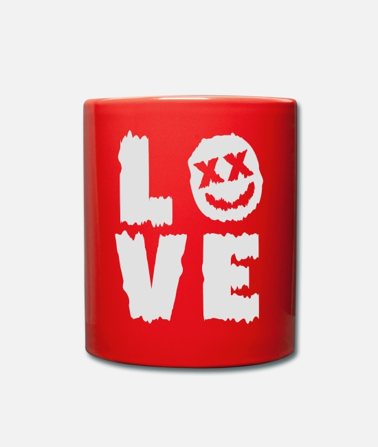 Techno Mugs & Drinkware - LOVE - Mug red