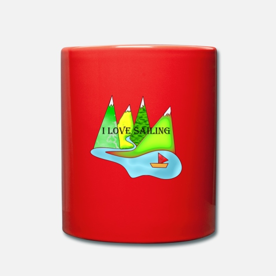 Sailboat Mugs & Drinkware - Sailing - Mug red