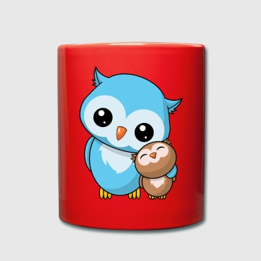 Sibling owls - Full Colour Mug
