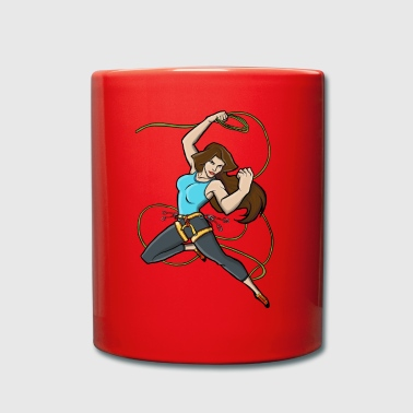 Superwoman Escalade, superwoman brandissant Lasso - Mug uni