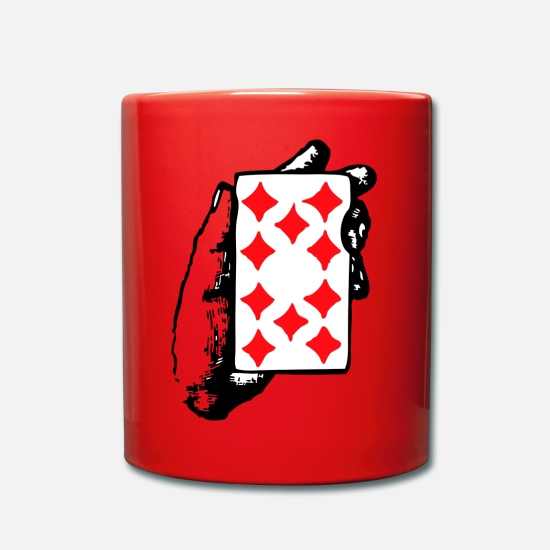 Cartes Mugs et récipients - carte - Mug rouge