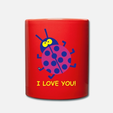 Trillo I love you Marienkäfer Ladybug Party Cupid couple - Tazza monocolore