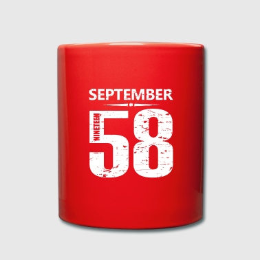 Year Of Birth September 1958 Jersey Number - Full Colour Mug