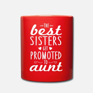 Graviditet the best sisters get promoted to aunt - Enfärgad mugg