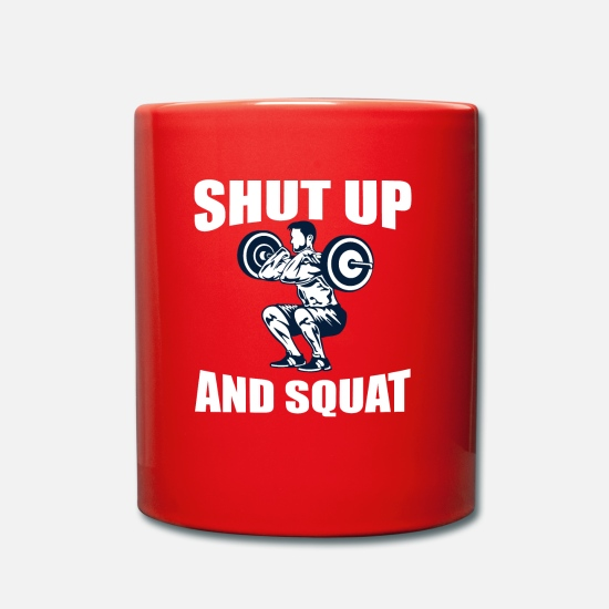 Squat Mugs et récipients - Squats Funny Design - Tais-toi et Squat - Mug rouge