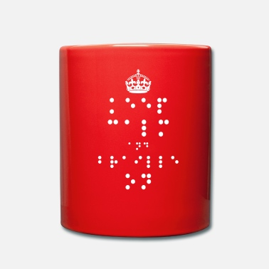 Braille Keep Calm and Braille On - Mok uni
