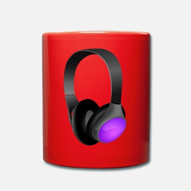 Headphones headphone - Full Colour Mug