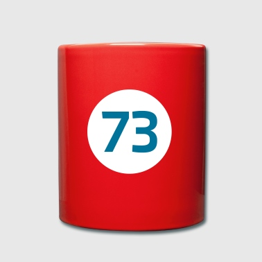 73 the best number BIG BANG Freak Theorie These - Tasse einfarbig