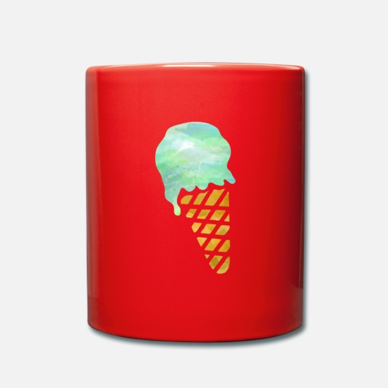 Gift Idea Mugs & Drinkware - ice cream - Mug red
