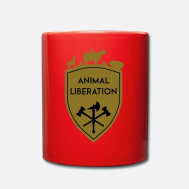 Liberación Animal ESCUDO DE LIBERACIÓN ANIMAL - Taza de un color