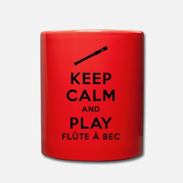 Bec Keep calm and play flûte à bec - Mug