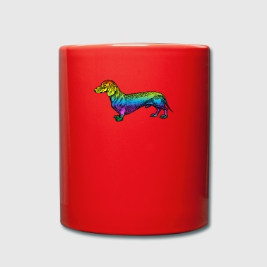 Wolf Colorful Dachshund (0006) - Full Colour Mug