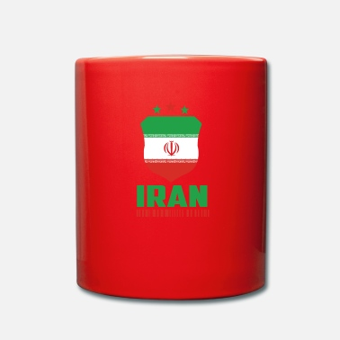 Fodbold Iran Football Gift Fan World Cup - Ensfarvet krus