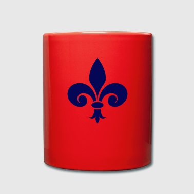 Fleur De Lis - blue - Full Colour Mug