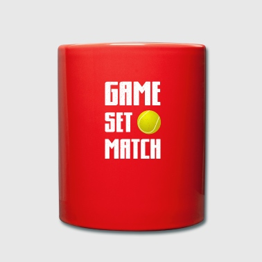 Tennis tennis player tennis court - Full Colour Mug