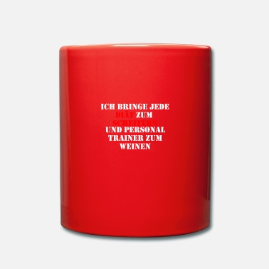 Personal Trainer Diaet fail trainer cry - Full Colour Mug